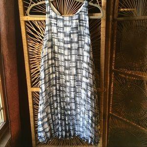 BB DAKOTA Leah Pleated Plaid Shift Dress Small